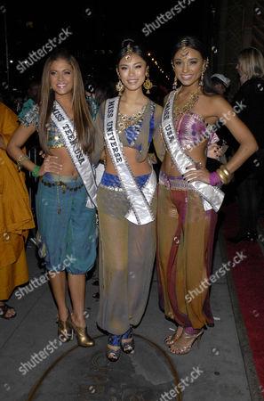 Miss Teen USA Hilary Cruz, Miss Universe Riyo Mori, Miss USA Rachel Smith