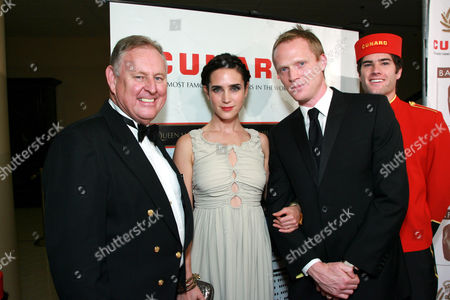 Cunard Captain David Christie, Jennifer Connelly and Paul Bettany