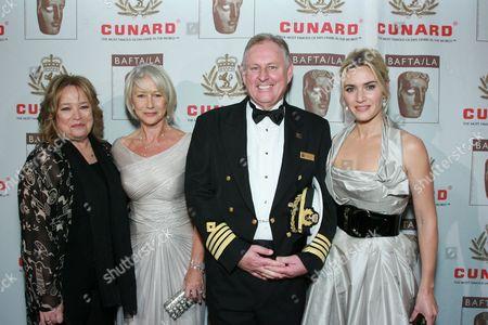 Kathy Bates, Helen Mirren, David Christie and Kate Winslet