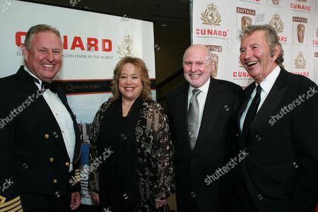 Captain David Christie, Kathy Bates, Michael Lynne & Bob Shaye