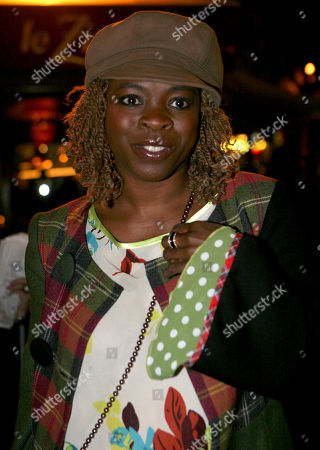 Stock Picture of Princess Erika French actress and singer Princess Erika arrives at the Afro-Caribbean Arts trophy in Paris, Tuesday Sept.23, 2008. The ceremony awards black artists