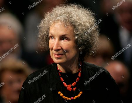Margaret Atwood Canadian writer Margaret Atwood arrives for the 2008 Prince of Asturias award ceremony in Oviedo, northern Spain. Atwood, has been named a foreign honorary member of the American Academy of Arts and Letters. Other foreign inductees include Italian author Roberto Calasso and British composer Peter Maxwell Davies