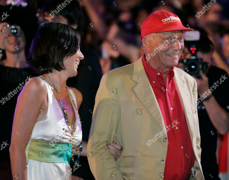 Birgit Wetzinger, Niki Lauda Former Austrian Formula 1 Champion Niki Lauda, right and his girlfriend Birgit Wetzinger arrive for the 16th annual Life Ball in front of Vienna's city hall, on . The Life Ball is a charity gala where organizers raise money for people living with HIV and AIDS