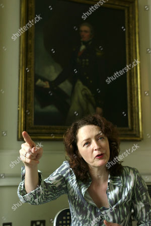 """Helen Simpson English writer Helen Simpson, author of """"In the Drivers Seat"""" gesturess during an interview in London, . """"In The Driver's Seat"""" (published in Britain as """"Constitutional"""") joins the earlier Simpson short story collections in dissecting the lives of mostly middle-class _ and increasingly middle-aged _ men and women"""