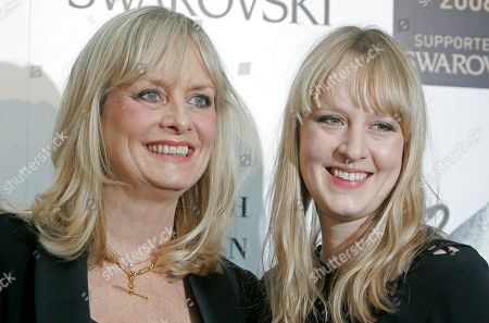 Twiggy, Carly Lawson Twiggy and daughter Carly Lawson arrives at the British Fashion Awards in London