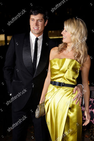 TV Presenters Tess Daley and husband Vernon Kaye arrive for the End Of Summer Ball 2008 charity event in aid of the Prince'd Trust, in central London