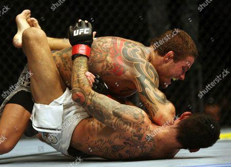 David Bielkheden, Jess Liaudin David Bielkheden, top, elbows Jess Liaudin during UFC 89 at the National Indoor Arena in Birmingham, England on . Bielkeheden won via unanimous decision