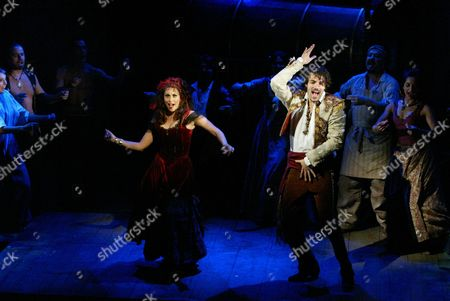 Matt Rawle; Lesli Margherita British actor Matt Rawle, right, and actress Lesli Margherita perform a scene on stage from the musical Zorro at the Garrick Theatre in the West End, London, . The musical includes a score by the Latino band Gipsy Kings