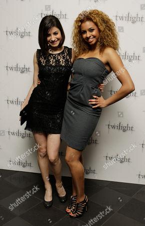 Rana Roy, Sapphire Elia Britannia High actresses Rana Roy, right, and Sapphire Elia arrive for the UK premiere of Twilight at a central London cinema