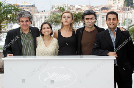 Jose Maria Prado, Catherine Mtsitouridze, Anupama Chopra, Fatih Akin, Yasser Moheb From left to right, Spanish director Jose Maria Prado, Indian journalist Anupama Chopra, Russian journalist Catherine Mtsitouridze, German director and Un Certain Regard president Fatih Akin and Egyptian critic Yasser Moheb pose at the photo call for the jury members of the Un Certain Regard during the 61st International film festival in Cannes, southern France, on
