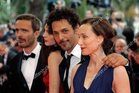"Stock Picture of Kristin Scott Thomas From right, cast of ""Largo Winch"" British actress Kristin Scott Thomas, French actor Tomer Sisley and Serbian actress and model Bojana Panic arrive for the premiere of the film ""Le Silence De Lorna"" during the 61st International film festival in Cannes, southern France"