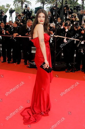 "Bojana Panic Serbian actress and model Bojana Panic arrives for the premiere of the film ""Le Silence De Lorna"" during the 61st International film festival in Cannes, southern France"