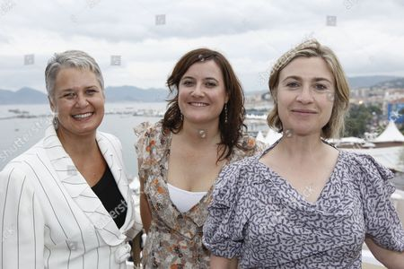 Tanya Chambers, Louise Smith, Laura Hastings-Smith Tanya Chambers, left, producer Louise Smith, center, and producer Laura Hastings-Smith attend the Sydney Film Festival press conference during the 61st International film festival in Cannes, southern France, on