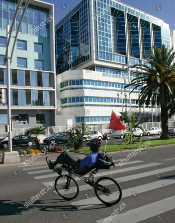 A cyclist rides in front of the Lenval Hospital in Nice, southern France, where US actress Angelina Jolie has given birth to a girl and a boy. The obstetrician who delivered the twins, Dr. Michel Sussmann, told that the actress, the babies and Jolie's partner, actor Brad Pitt, 'are doing marvelously well.' Sussmann said Jolie gave birth to a boy, Knox Leon, and a girl, Vivienne Marcheline, by Cesarian section on last Saturday night