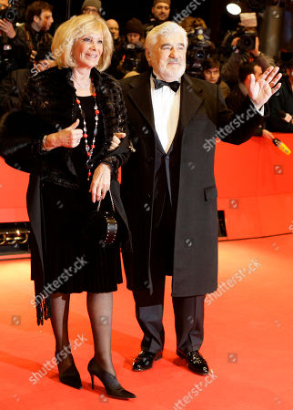 Stock Photo of Mario Adorf, Monique Adorf German actor Mario Adorf, right, and his wife Monique Adorf arrive during the opening of the Berlinale film festival in Berlin, Germany, . The U.S. film 'Shine a light', a documentary on the Rolling Stones by U.S. director Martin Scorsese opens the 58th Berlinale film festival, which takes place from Feb. 7 to Feb. 17, 2008