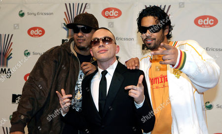 Deflame, Killa Kela and Sammy Deluxe Rap artists Deflame, Killa Kela and Sammy Deluxe arrive at the MTV Europe Music Awards 2007 in Munich, Germany
