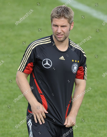 Thomas Hitzelsperger German national team soccer player Thomas Hitzelsperger, pictured during a training of the German national soccer team in Herzogenaurach, southern Germany, on