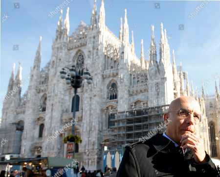 Gabriele Albertini Former Milan's mayor Gabriele Albertini attends the Italian Armed Forces celebration day, in front of the Duomo gothic cathedral in Milan, Italy
