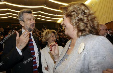 Cesare Damiano, Diana Bracco Labor Minister Cesare Damaino and Assolombarda President Diana Bracco in Milan