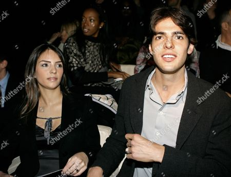 Ricardo Kaka, Caroline Celico AC Milan Brazilian soccer star Ricardo Kaka and his wife Caroline Celico attend the Giorgio Armani Women's Fall/Winter 2008/2009 collection, presented in Milan, Italy