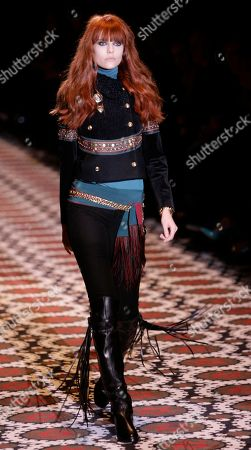 Martha Streck Brazilian model Martha Streck wears a creation part of the Gucci Fall/Winter 2008/2009 women's collection presented in Milan, Italy