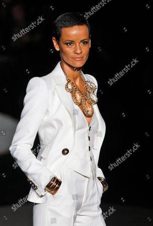 Nadege du Bospertus French top model Nadege du Bospertus wears a creation part of the DSquared2 Spring/Summer 2009 fashion collection presented in Milan, Italy
