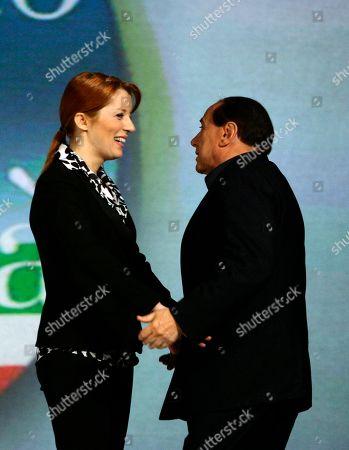 Silvio Berlusconi; Michela Vittoria Brambilla Italian former Premier Silvio Berlusconi, right, and Michela Vittoria Brambilla attend a meeting in Milan, Italy