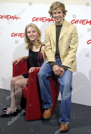 Stock Photo of AnnaSophia Robb; Cayden Boyd Actress AnnaSophia Robb, left, and Cayden Boyd pose during a photo call for the presentation of the film 'Have Dreams, Will Travel' at the Rome Film Festival