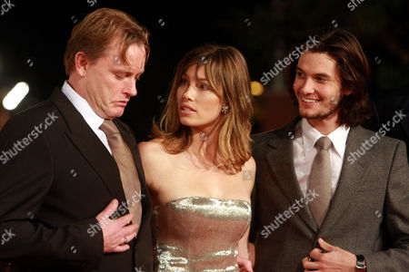 "Stephan Elliot, Jessica Biel, Ben Barnes From left director Stephan Elliot, actress Jessica Biel and actor Ben Barnes arrive for the screening of her movie ""Easy Virtue"" at the third edition of the Rome Film Festival, in Rome, . The third edition of the Rome film festival is scheduled to run until Oct. 31"
