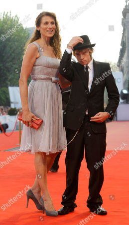 Nancy La Scala; Zach Thomas Actors Nancy La Scala and Zach Thomas pose on the red carpet before the closing ceremony and awards presentation at the 65th edition of the Venice Film Festival in Venice, Italy