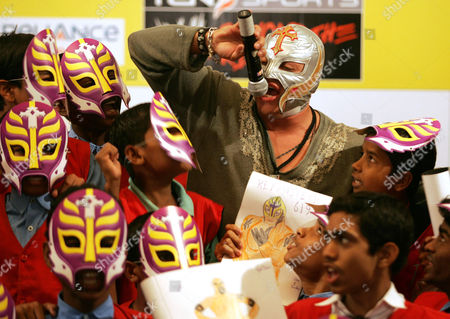 Rey Mysterio World Wrestling Entertainment star Rey Mysterio interacts with school children in Mumbai, India. Months after the in-ring death of Mexican star Perro Aguayo, Mysterio has not only returned to the ring, he will headline a pay-per-view card, for top Mexican promotion AAA. An undersized underdog, Mysterio hoped he could honor his friend by pushing forward in the ring