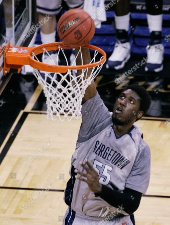 Roy Hibbert Georgetown's Roy Hibbert dunks the ball during their NCAA second-round East Regional basketball game at the Lawrence Joel Veterans Memorial Coliseum in Winston-Salem, N.C