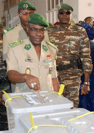 Salou Djibo Gen. Salou Djibo, head of the military junta that has ruled Niger since a February 2010 coup, casts his vote for president in Niamey, Niger, . This impoverished country on the edge of the Sahara took another stab at democracy Monday when it voted for a new president and parliament that are expected to take over leadership from the military