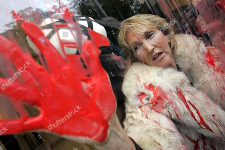 Ingrid Newkirk People for the Ethical Treatment of Animals (PETA) President Ingrid Newkirk protests the use of animal fur in fashion in a Jean-Paul Gaultier shop in Paris after spraying red paint on the shop window. PETA turns 35 years old in 2015, is the largest animal rights group in world with 3 million members, and has done a lot with a little sex, shock and celebrity