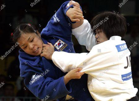 Sae Nakazawa, Lee So-yeon Japan's Sae Nakazawa, right, and South Korea's Lee So-yeon battle during the Asian Games judo women's under 78kg final in Doha, Qatar, . Nakazawa topples Lee to win gold
