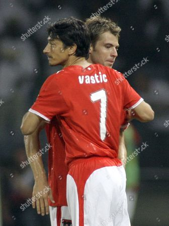 Ivica Vastic, Andreas Ivanschitz Austria's national soccer team player Ivica Vastic, left, and Andreas Ivanschitz during a friendly soccer match between Austria and Nigeria as preparation to the upcoming Euro 2008 in Austria and Switzerland in Graz, Austria