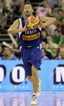 Marko Jaric Serbia national basketball team player Marko Jaric, who plays in the U.S. for the Minnesota Timberwolves, during the Preliminary round group A match of the EuroBasket Championship against Israel in Granada, . Israel won 87-83. The two other teams in Group A are Greece and Russia