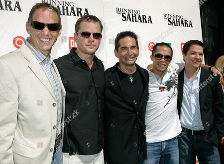 "Stock Picture of Charlie Engle; Matt Damon; Ray Zahab; Kevin Lin; James Moll From left, Charlie Engle, Matt Damon, Ray Zahab, Kevin Lin and director James Moll attend a presentation of ""Running The Sahara"" during the Toronto International Film Festival in Toronto"