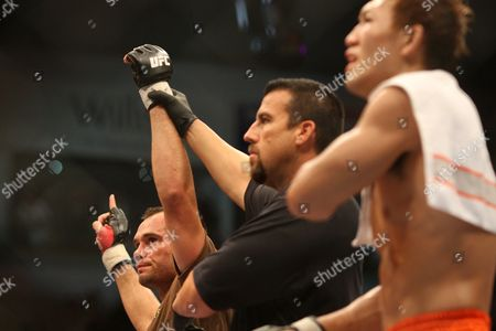 Rich Franklin, Yushin Okami Rich Franklin of the United States, left, is declared the victor after his bout with Yushin Okami of Japan at UFC 72 in Belfast, Northern Ireland on . Franklin won the fight via unanimous decision