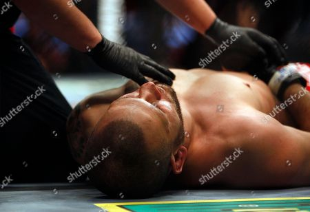 Marcus Davis, Jess Liaudin Jess Liaudin lies on the canvas after being the victim of a KO in his UFC 80 bout against Marcus Davis at the Metro Radio Arena in Newcastle, England, . Davis won on a 1st round KO via punch