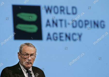 """Stock Photo of Dick Pound Then-World Anti-Doping Agency president Dick Pound gives a speech during the closing ceremony of a three-day international summit on doping, in Madrid, Spain. A whistleblower who uncovered Russia's doping scourge says most of the changes in the country's track and anti-doping programs are, in his words, """"just fake,"""" and not extensive enough to allow the team into this summer's Olympics.Vitaly Stepanov, who along with his wife, Yulia, blew the lid off systemic doping in Russia, tells The Associated Press that about 80 percent of coaches in Russian track used doping to prepare athletes for London's Olympics"""