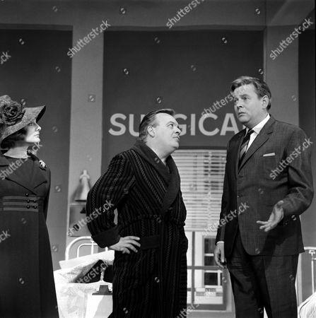L-R. Barbara Murray, Patrick Wymark and Jack Watling in a  'Royal Gala'