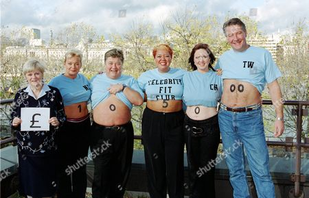 Anne Widecombe, Nicola Duffett, Jono Coleman, Kay Purcell, Coleen Nolan and Tommy Walsh  in 'Celebrity Fit Club'
