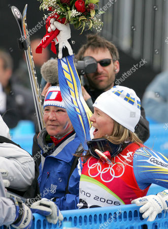 Editorial image of WINTER OLYMPICS WOMENS DOWNHILL SWEDEN FRANCE TR1