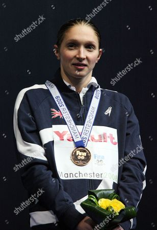 Caitlin McClatchey Britain's Caitlin McClatchey poses with the bronze medal during the medal ceremony for the Women's 200m freestyle at the World Short Course Swimming Championships at the MEN Arena in Manchester, England