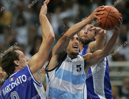Editorial picture of Argentina Men's Basketball 2004, ATHENS, Greece