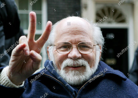 Vietnam veteran Ron Kovic, who wrote 'Born on the 4th of July' about his experiences, outside10 Downing Street in London, . Kovic, along with other anti-war campaigners including George Galloway M.P., were handing in a petition calling on the coalition forces to leave Iraq