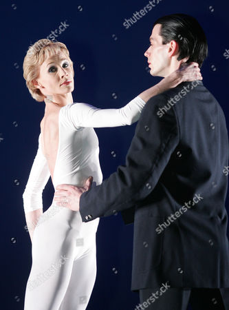 """Stock Picture of Zara Deakin, left, who plays Princess Diana, and Sean Ganley, who plays Prince Charles, run through a performance before the British opening of the ballet """"Diana, The Princess"""" at The Palace Theatre in Manchester, England, . The show, which has just ended in Denmark, was the brainchild of Peter Schaufuss, the former director of the English National Ballet"""