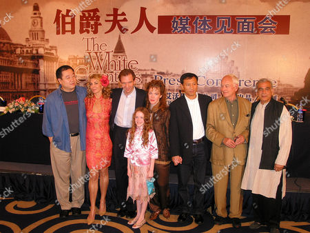 DA From left: Ying Da, British actress Natasha Richardson, British actor Ralph Fiennes, Madeleine Cooper, Madeleine Potter, Wang Louyong, U.S. film director James Ivory and Producer Ismail Merchant, pose for photographers during a press conference of ongoing production of U.S. film The White Countess in Shanghai, China. The film is produced by Merchant Ivory Production and Shanghai Film Group