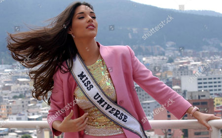 Amelia Vega, 2003 Miss Universe, poses for photographers at a hotel in Quito, . The new contestants will be participating in the Miss Universe beauty pageant on June 1 in Quito, Ecuador
